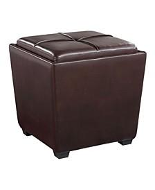 Rockford Storage Ottoman inFaux Leather