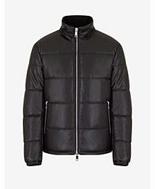 Leather Puffer Blouson Jacket