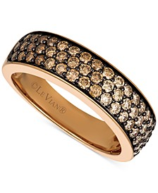 Chocolate Diamond Pavé Band (7/8 ct. t.w.) in 14k Rose Gold