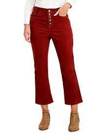 Corduroy Flared Button Pants, Created for Macy's