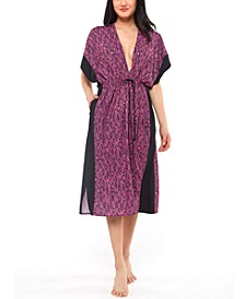 Snakecharmer Printed Cover-Up Dress