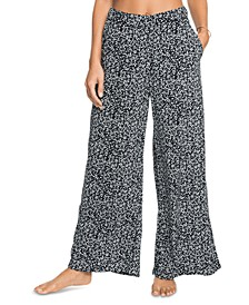 Juniors' Midnight Avenue Printed Wide-Leg Pants
