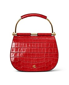 Mason Croc-Embossed Leather Satchel