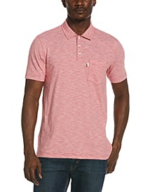 Men's Slub Feeder Striped Polo Shirt