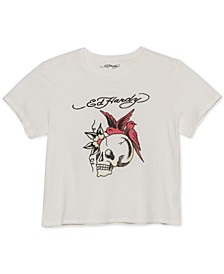 Skull Cropped Graphic T-Shirt