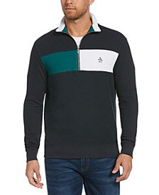 Men's French Ribbed Quarter-Zip Sweater