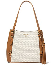 Carrie Large Signature Shoulder Tote