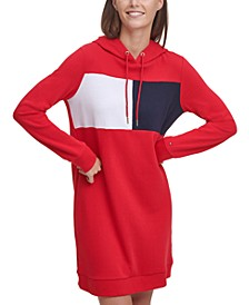 Colorblocked Hoodie Dress