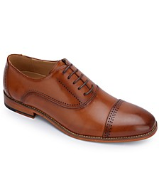 Men's Booker Faux-Leather Lace-Up Oxford Dress Shoes