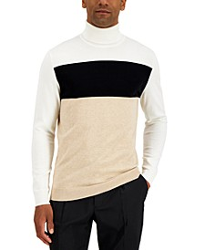 Men's Colorblocked Turtleneck Sweater, Created for Macy's