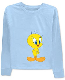 Tweety & Sylvester Front & Back Graphic-Print T-Shirt