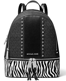 Rhea Signature Zip Medium Backpack