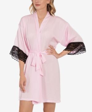 Lace-Trim Wrap Robe