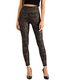 INC Gold Compression Leggings, Created for Macy's