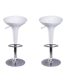 Modern Height Adjustable Swivel Kitchen Bar Stools, Set of 2