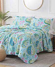St. Croix San Tropez 3-Piece Reversible Quilt Set, Queen
