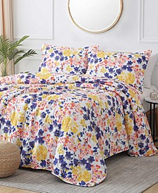 St. Croix Wildflowers 3-Piece Reversible Quilt Set, Queen