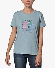 Juniors' Cotton Graphic Boyfriend T-Shirt