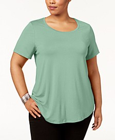 Plus Size Short-Sleeve Top, Created for Macy's