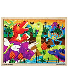 Kids Toy, Prehistoric Sunset 24-Piece Jigsaw Puzzle