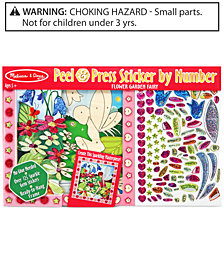 Melissa and Doug Kids Toy, Peel & Press Sticker by Number Flower Garden Fairy Set