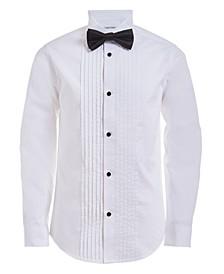 Big Boys Tuxedo Shirt and Bow Tie Box Set