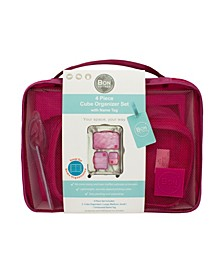 4-Piece Organizer Set 3 Cube Organizer  Set with 1 Embossed Name Tag
