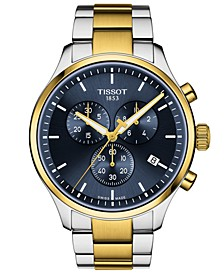 Men's Swiss Chronograph Chrono XL Classic Two-Tone Stainless Steel Bracelet Watch 45mm