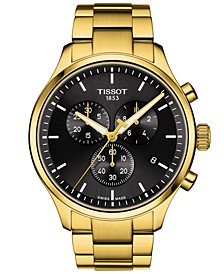 Men's Swiss Chronograph Chrono XL Classic Gold-Tone Stainless Steel Bracelet Watch 45mm