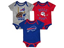 Newborn Buffalo Bills Champ 3-Pc. Bodysuit Set