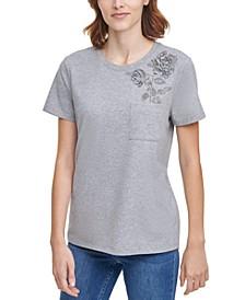 Embellished Rose T-Shirt