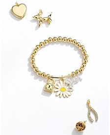 Personalize Your Own Charm Bracelet in Fine Silver Plate & Gold Flash Plate