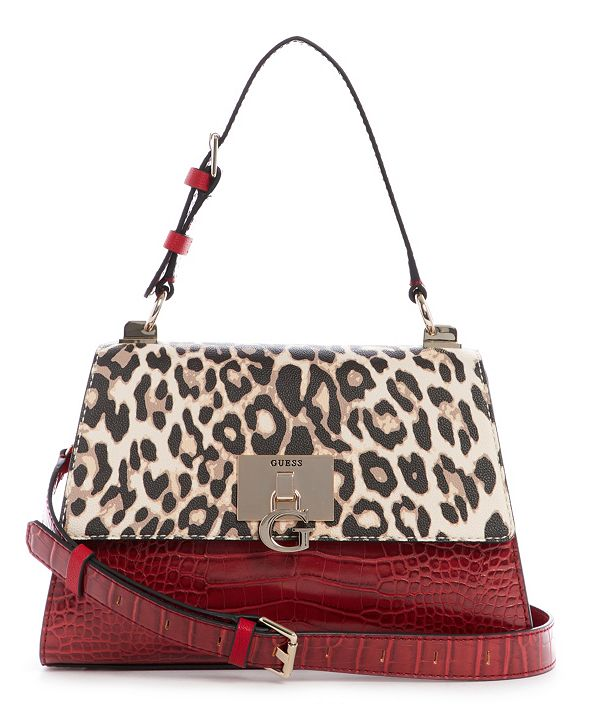 GUESS Stephi Top Handle Flap Crossbody