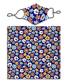 X Best Friends Unisex Flower Curved Mask and Bandana Set