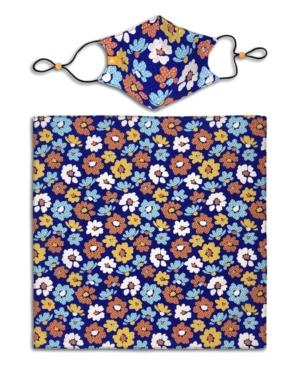 x Best Friends Unisex Flower Curved Mask and Bandana Set