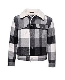 Women's Wool Boyfriend Sherpa Jacket