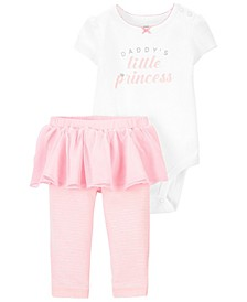 Carters Baby Girl 2-Piece Princess Bodysuit & Tutu Pant Set