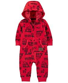 Carters Baby Boy Zip-Up Hooded Fleece Jumpsuit