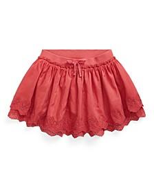 Toddler and Little Girls Eyelet Scooter Skirt
