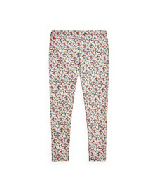 Big Girls Floral Stretch Jersey Legging