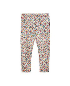 Toddler and Little Girls Floral Stretch Jersey Legging