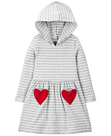 Carters Toddler Girl Heart Hooded Jersey Dress