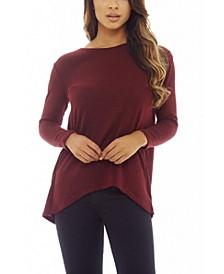 Women's Split Back Lace Knitted Top