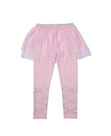 Little Girls Tutu Graphic Legging