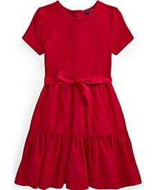 Big Girls Tiered Stretch Interlock Dress