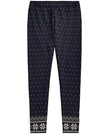 Big Girls Polka-Dot Stretch Jersey Legging