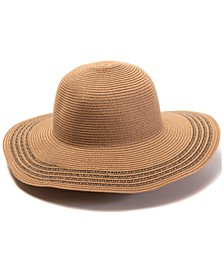 INC Packable Tweeded-Edge Floppy Hat, Created for Macy's