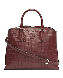 Leather Noho Triple Compartment Satchel Bag