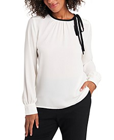Billie Tie-Neck Blouse, Created for Macy's