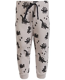 Baby Boys Dino-Print Jogger Pants, Created for Macy's